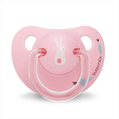 Suavinex - Pacifier Anatomical Latex 0-6 Months Bunny Pink