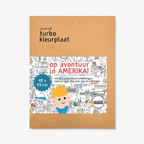 Turbo Colouring Print U.S.A. (48 x 69 cm)