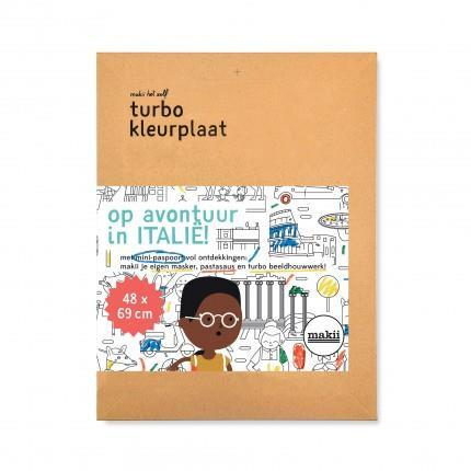 Turbo Colouring Print Italy (48 x 69 cm)
