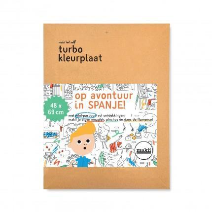 Turbo Colouring Print Makii Spain (48 x 69 cm)