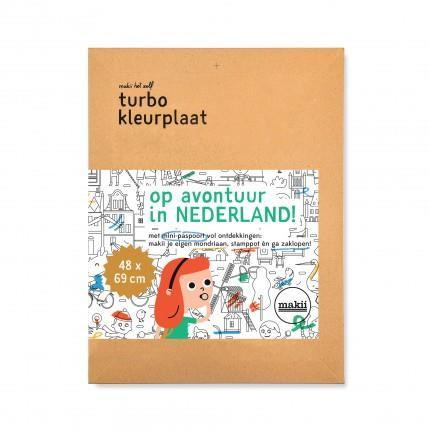 Turbo Colouring Print Makii the Netherlands (48 x 69 cm)