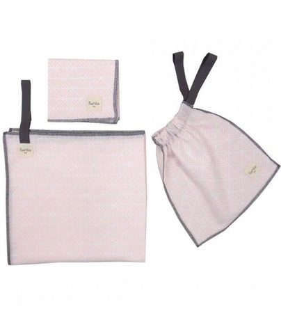 Fundas - Set of 2 organic cotton swaddles Pink Spikes