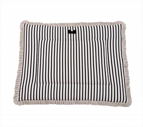 House of Jamie - Playpen Mat Reversible Breton + Black & Stone
