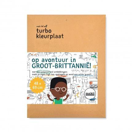Turbo Colouring Print Makii United Kingdom (48 x 69 cm)