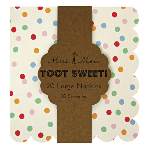 Meri Meri - Toot Sweet Spotty Large Napkins