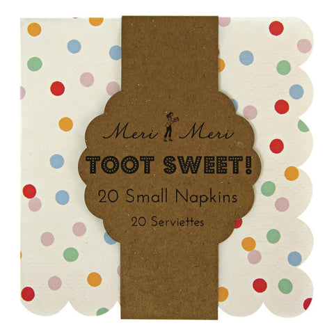 Meri Meri - Toot Sweet Spotty Small Napkin