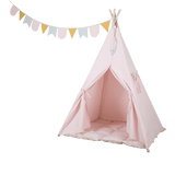 Little Dutch - Tipi Tent with Playmat and Halyard Pink