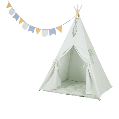 Little Dutch - Tipi Tent with Playmat and Halyard Mint
