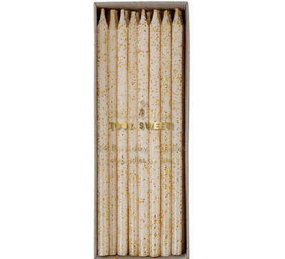 Meri Meri - Gold Straight Birthday Candles
