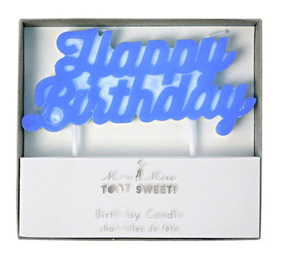 Meri Meri - Blue Happy Birthday Candles