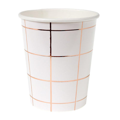 8 Cups Rose Gold Grid