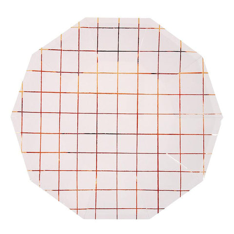 8 Small Plates Rose Gold Grid