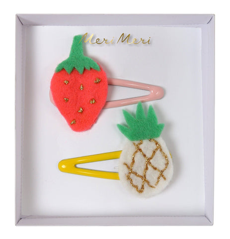 Meri Meri - Pineapple and Strawberry Hairclips