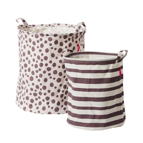 Done by Deer - Soft storage basket 2 pcs powder