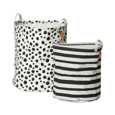 Done by Deer - Soft storage basket 2 pcs black