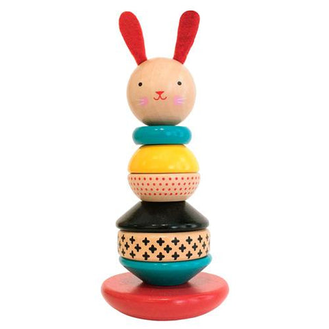 Petit Collage - Wooden Toys Rabbit Stacker
