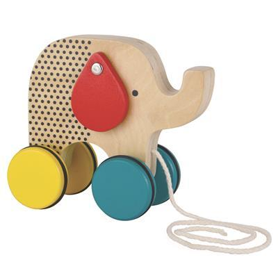 Petit Collage - Wooden Pull Toy Elephant