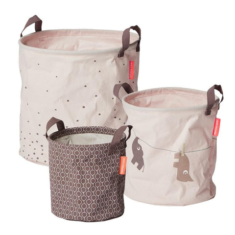 Done by Deer - Soft storage baskets 3 pcs. powder