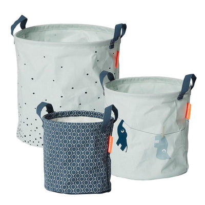Done by Deer - Soft storage baskets 3 pcs. blue