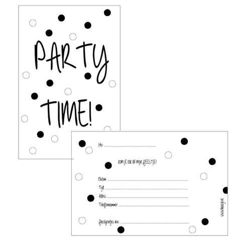 Huusje - Party Invitation Party Time