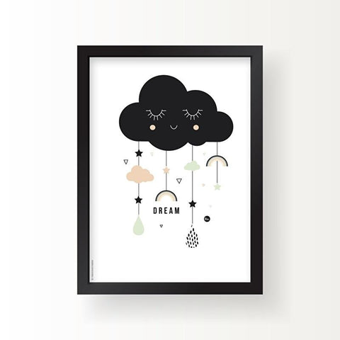 Poster A3 The Birds & the Bees Lovely Cloud