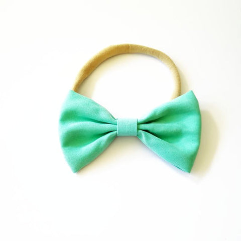 Little Millie - Headband Chloe Bow Mint