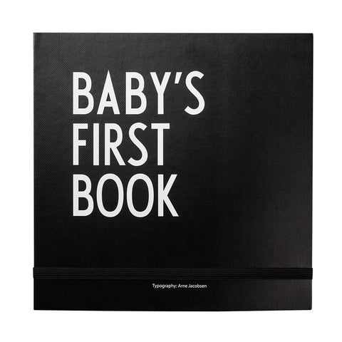 Design Letters - Baby's First Book Black