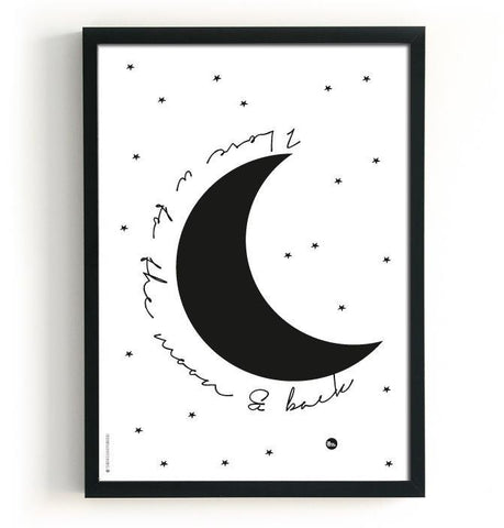 "Double sided poster The Birds & the Bees ""Moon / Sweet dreams"""