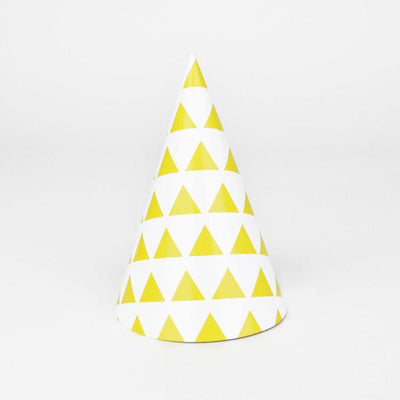 My Little Day - Yellow triangles Party Hats