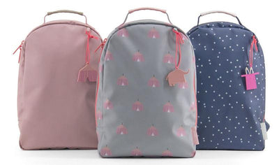 Miss Rilla Backpack (Plain - Circus - Blue Dots)