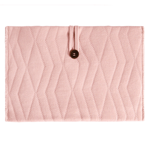 House Of Jamie - Travel Changing Mat Geometry Jacquards Powder Pink