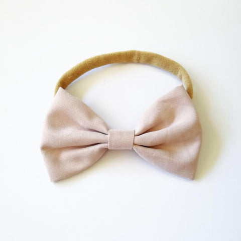 Little Millie - Headband Chloe Bow Nude