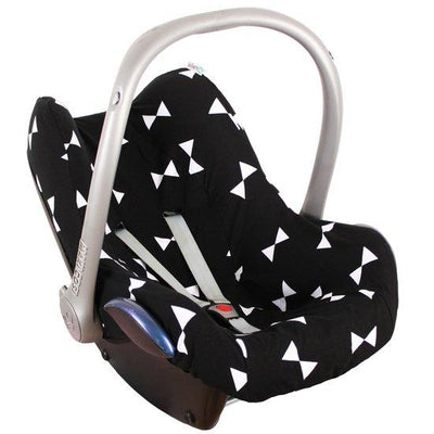 Ukje - Cover Maxi Cosi Black With White Bows