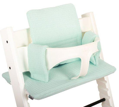 Ukje - cushion set triptrap waffled mint