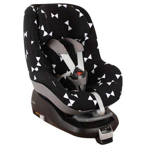 Ukje - Maxi Cosi cover (2way) Pearl black with white bows