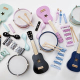 Kids concept - music instruments pink