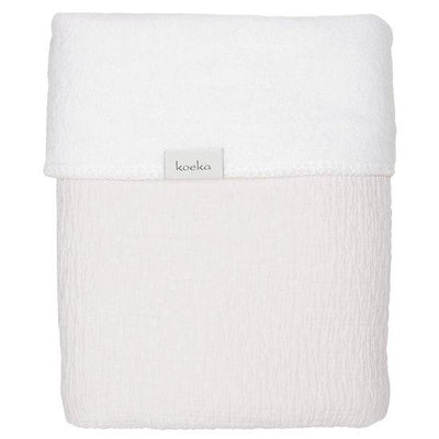 Koeka - Blanket Elba Teddy Pebble/White