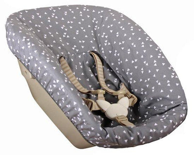 Ukje - cover Stokke Newborn Trip Trap grey white rectangles
