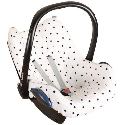 Ukje - cover Maxi Cosi Creme with black dots