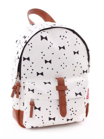 Kidzroom - Black & White bows backpack