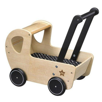 Kids concept - wooden dolls pram NEO  naturel/black