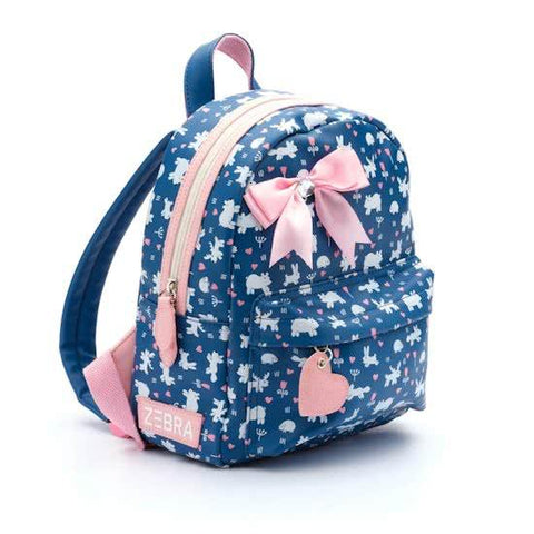 Zebra trends girls backpack Small Forest blue
