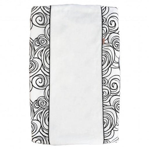 Witlof For Kids - Changing Pad Cover Moon Black/White