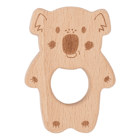 Kippins - Natural beech wood teething toy Banjo Koala