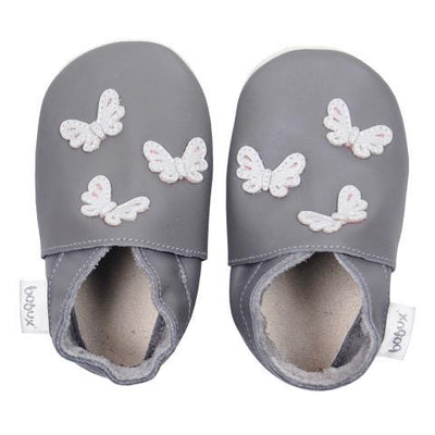 Bobux - Soft Soles Grey Butterflies