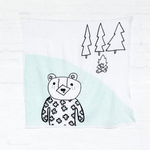 Kippins - Muslin Wrap Billie Bear