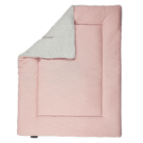 House Of Jamie - Playpen Mat Reversible Geometry Jacquards Powder Pink And Stone