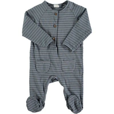 Bean's Barcelona - Striped Playsuit Lech Blue