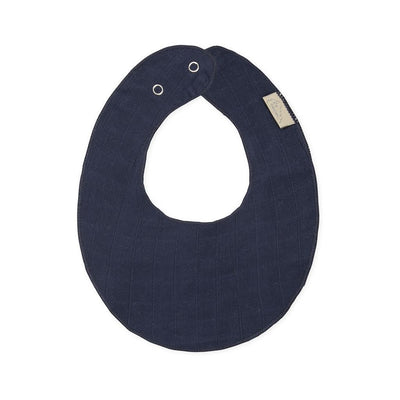 Cam Cam - Muslin Teething Bib Navy