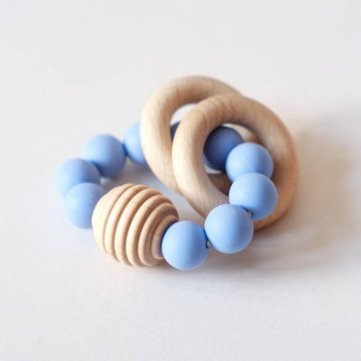 Blossom & Bear - Wooden Beaded Teething Toy Cornflower Blue